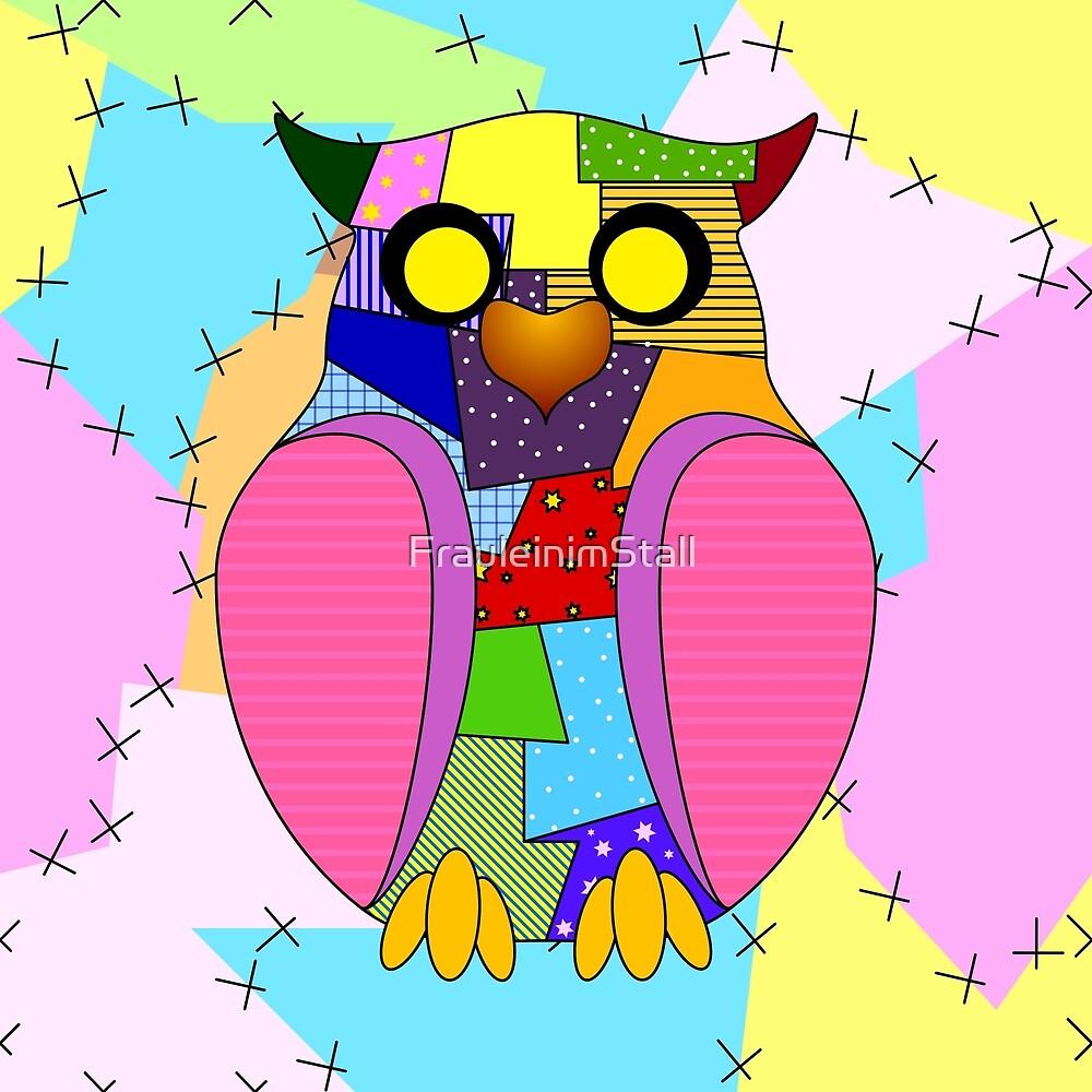 Little patchwork owl by FrauleinimStall