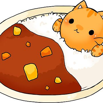 Kare Raisu cat - Curry rice cat by linkitty