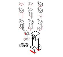How to draw a CREEPER