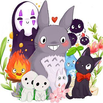 Studio Ghibli friends - totoro no face cute by linkitty