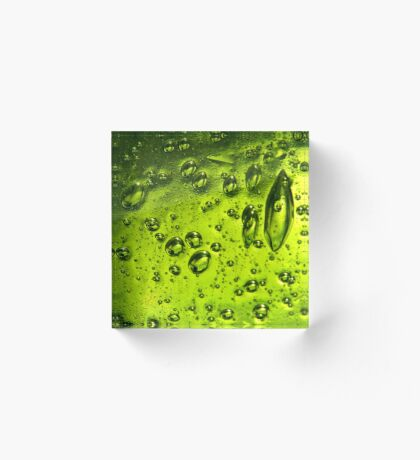 Bubbles in Glass Acrylic Block