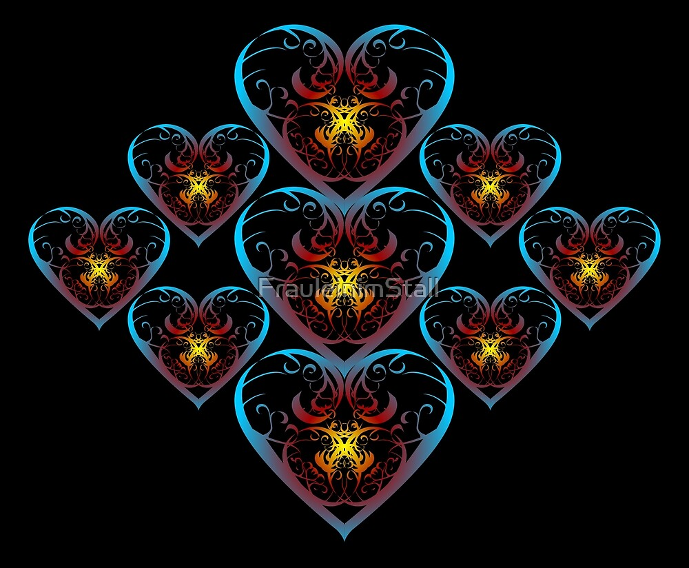 Flaming hearts by FrauleinimStall