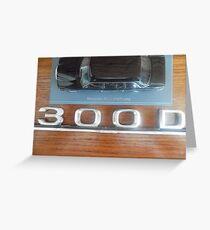MERCEDES LIMOUSINE 300D W123 LONG WHEELBASE SEDAN COSTA RICA Greeting Card