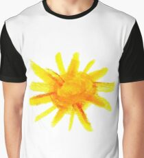 The Sun Hand Draw Watercolor Graphic T-Shirt
