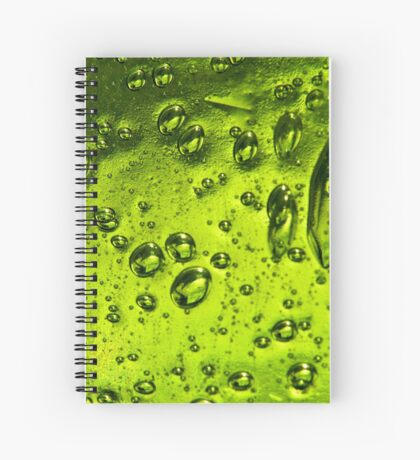 Bubbles in Glass Spiral Notebook