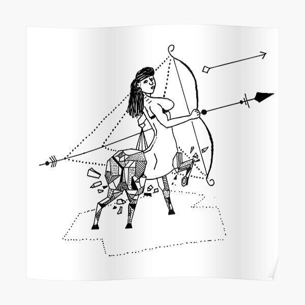 Geometric Sagittarius Poster