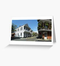 NEW ORLEANS, French Quarter, Dumaine and Royal Greeting Card
