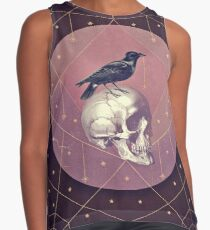 Crow and Skull Collage Sleeveless Top