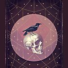 Crow and Skull Collage by Eva Nev