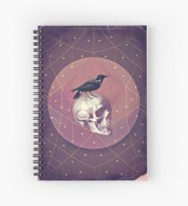 Crow and Skull Collage Spiral Notebook