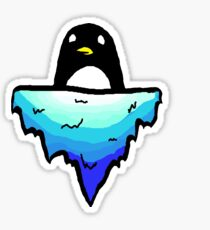 Floating Penguin Sticker