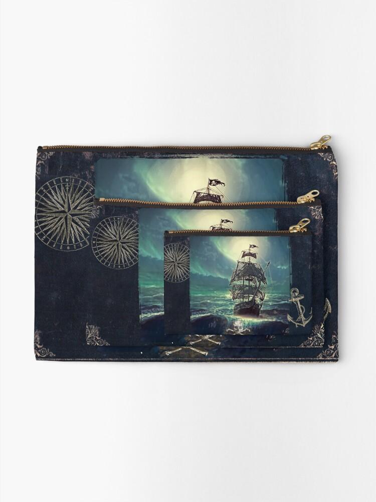 Vista alternativa de Bolsos de mano Ghost Pirate Ship at Night