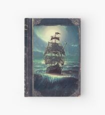 Ghost Pirate Ship at Night Hardcover Journal