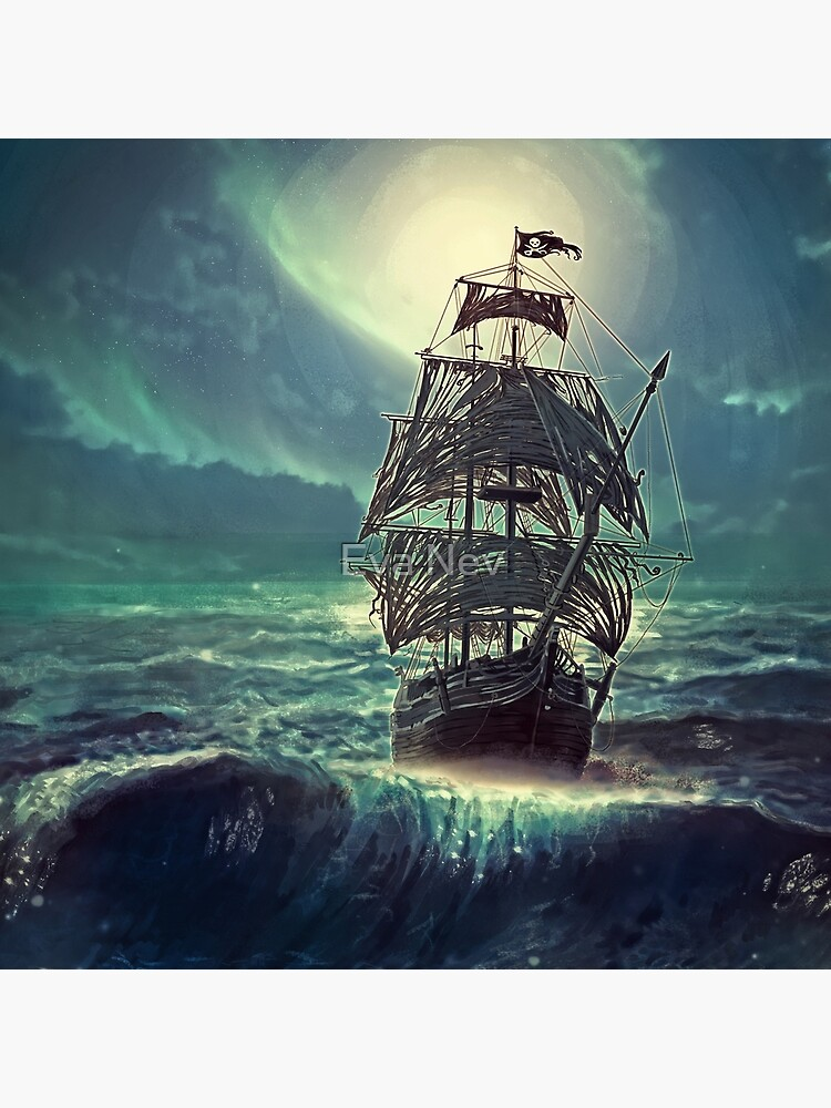 Ghost Pirate Ship at Night by 3vaN