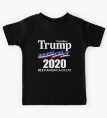 Präsident Trump 2020 - Amerika groß halten Kinder T-Shirt
