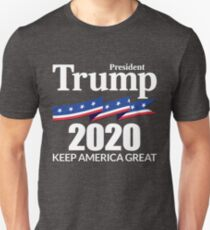 Camiseta unisex Presidente Trump 2020 - Keep America Great