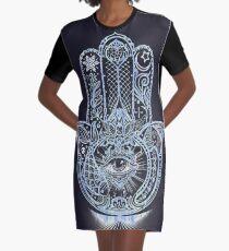 Hamsa - Hand of Fatima Graphic T-Shirt Dress