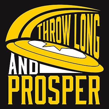 Throw Long & Prosper Ultimate Frisbee Design by jaygo