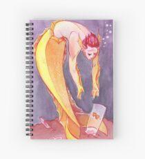 MerMay Goldfish Merman Rescuer Watercolor Spiral Notebook