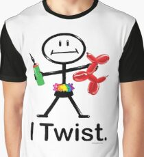 I Twist Balloon Artist Stick Figure Graphic T-Shirt