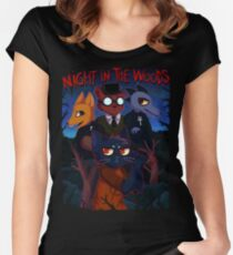 Night in the Woods Women's Fitted Scoop T-Shirt