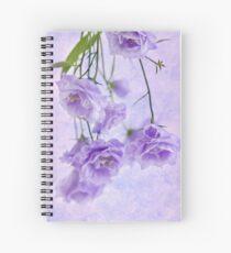 Campanella Blossoms Suspended - Macro Spiral Notebook