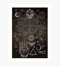 Magic Symbols for a Alchemist Dreamer Art Print