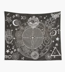 Magic Symbols for a Alchemist Dreamer Wall Tapestry