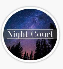 Night court Sticker