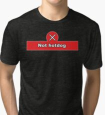 Not Hot Dog Silicon Valley Funny Quote Shirt Tri-blend T-Shirt