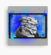 Garrus Vakarian: Mass Effect (Blue) Canvas Print