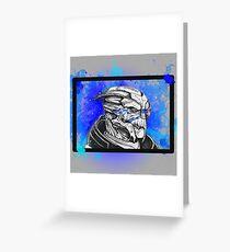 Garrus Vakarian: Mass Effect (Blue) Greeting Card