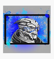 Garrus Vakarian: Mass Effect (Blue) Photographic Print