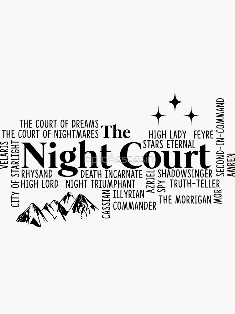The Night Court Typography by EpicAssassin