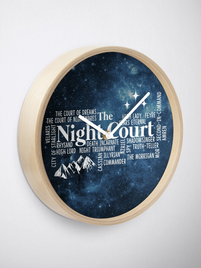Alternative Ansicht von Die Nacht Gericht Typografie Uhr