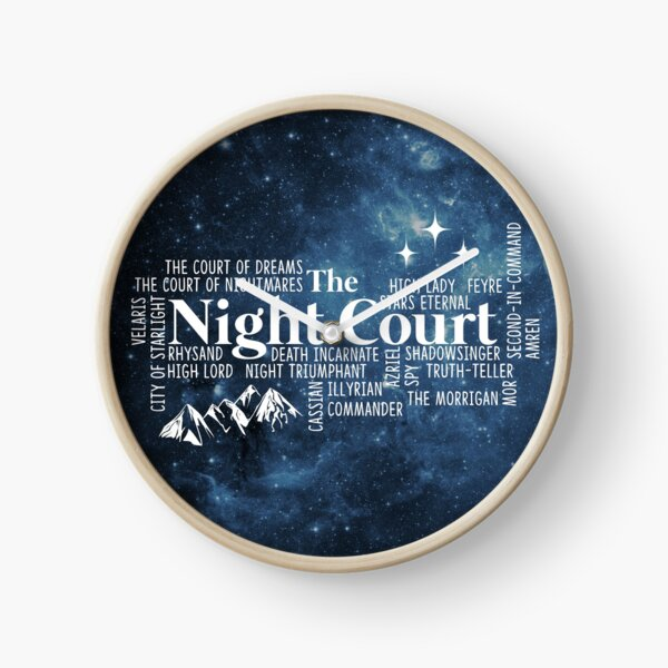 The Night Court Typography Clock