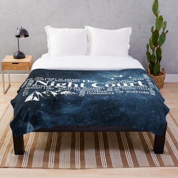 The Night Court Typography Throw Blanket