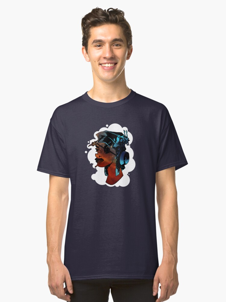 Space Girl - Comic Style Design Classic T-Shirt Front