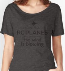 Funny Rc Plane Design  Women's Relaxed Fit T-Shirt