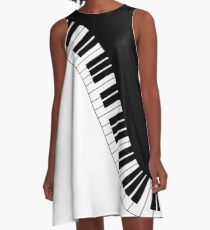 Piano Keyboard A-Line Dress