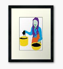 Gloop Girl Framed Print