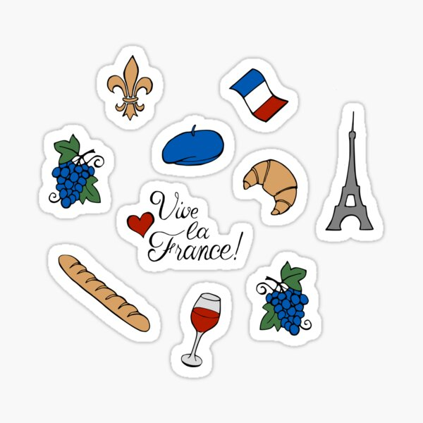 Vive la France! Pattern Sticker