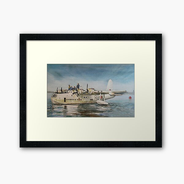 Short Sunderland Flying Boat Framed Art Print