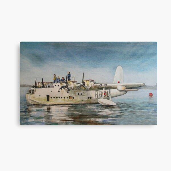 Barco volador corto de Sunderland Lienzo