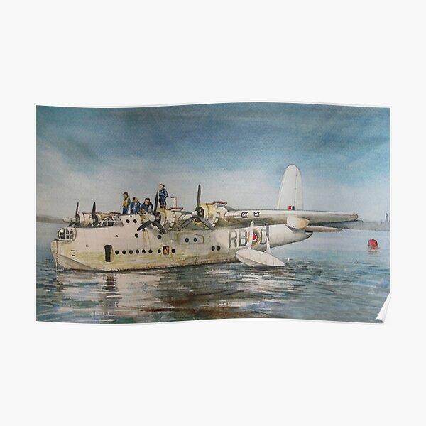 Short Sunderland Flying Boat Poster