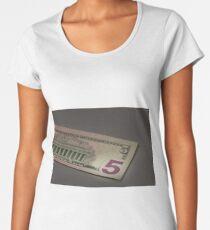 number 5 on american dollar bill Women's Premium T-Shirt