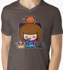 Cat Mom Men's V-Neck T-Shirt