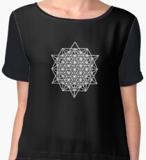 64 star tetrahedron sacred geometry  Women's Chiffon Top