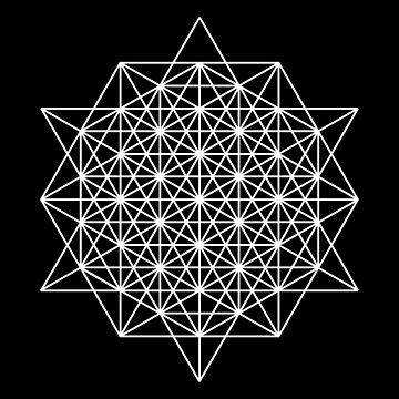 64 star tetrahedron sacred geometry  by Echolite