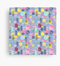 Abstract pattern nursery minimal pattern pink mint pastels and white abstract pattern design by CharlotteWinter Canvas Print